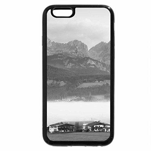 iPhone 6S Plus Case, iPhone 6 Plus Case (Black & White) - austrian tyrol village in fog