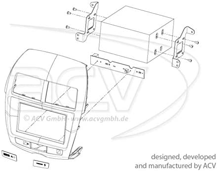Doppel Din Radioblende Mitsubishi Asx Ab Bj 2010 Elektronik