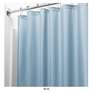 United Linens 10 Gauge Heavy Duty Shower Curtain Liner Blue 70x72 Peva Mildew