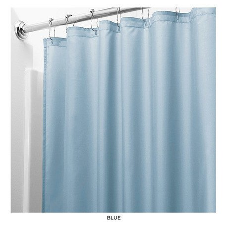 Palm Tree Bamboo Door Curtain (United Linens 10 gauge HEAVY DUTY Shower Curtain Liner Blue,70x72, PEVA, , Mildew Free, Resistant, Mold Resistant , Eco Friendly , Vinyl , No Chemical Odor High quality liner)