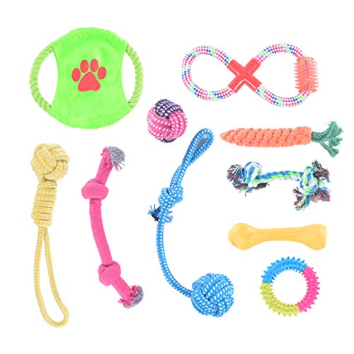 Rachel Pet Products Dog Rope Toys Dog Chew Toys Puppy Teething Toys for Small Medium Dogs