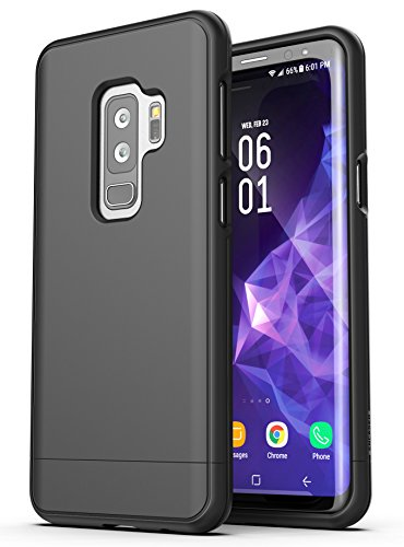 Galaxy S9 Plus Belt Case, Encased [SlimShield Series] Protective Grip Case with Holster Clip for Samsung Galaxy S9+ (2018 Release) Smooth Black
