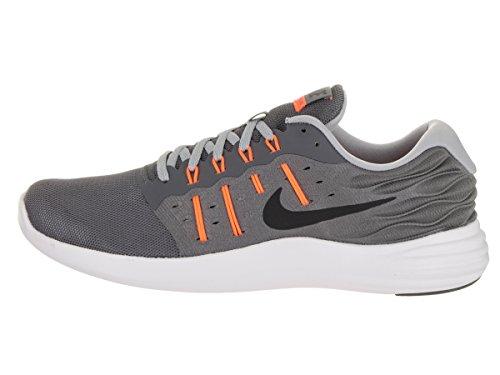 Nike Heren Lunarstelos Hardloopschoen Donkergrijs / Zwart / Wolf Grijs / Totaal Oranje