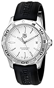 TAG Heuer Men's WAP1111.FT6029 Aquaracer Stainless Steel White Dial Watch