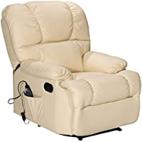Giantex Recliner Massage Sofa Chair Deluxe Ergonomic Lounge Couch Heated W/Control (Beige)