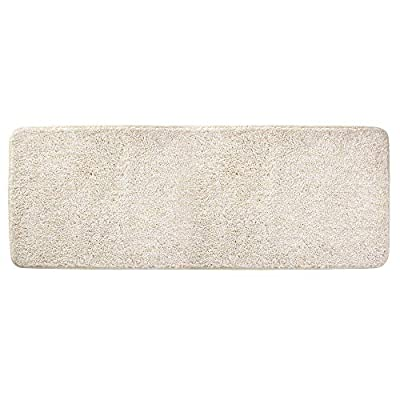 "mDesign Soft Microfiber Polyester Non-Slip Extra-Long Spa Mat/Runner, Plush Water Absorbent Accent Rug for Bathroom Vanity, Bathtub/Shower, Machine Washable - 60"" x 21"" - Heather Linen/Tan - ULTRA ABSORBENT: Microfiber absorbs water and dries quickly; The quick-dry fibers keep this rug looking and feeling great, even with repeated use; Floors stay dry, so no more worries about slippery bathroom floors; Great for the guest bathroom, powder room, master baths, kid's bathroom and more ALL-AROUND COMFORT: The plush cut pile is made of super soft and absorbent microfiber yarns to give you a comfortable and warm place to stand when brushing your teeth or applying makeup; Use in front of bathroom counters, sinks, vanities, showers or bathtubs; Use this beautiful and comfortable rug throughout the home - try it in the kitchen, laundry/utility room, mudroom or entryway SLIP-RESISTANT: The durable non-slip backing provides long-lasting performance, and it reliably grips the floor keeping the rug in place, even when wet; Provides a secure place to stand when getting in and out of the shower or tub; Great for kids, teens, adults and seniors; Perfect for houses, apartments, condos, RVs, campers, cabins, dorm rooms and more - bathroom-linens, bathroom, bath-mats - 41RJlROYvGL. SS400  -"