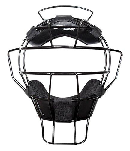 CHAMPRO Sports Pro-Plus Alum Ump Dri-Gear Mask, Black by CHAMPRO