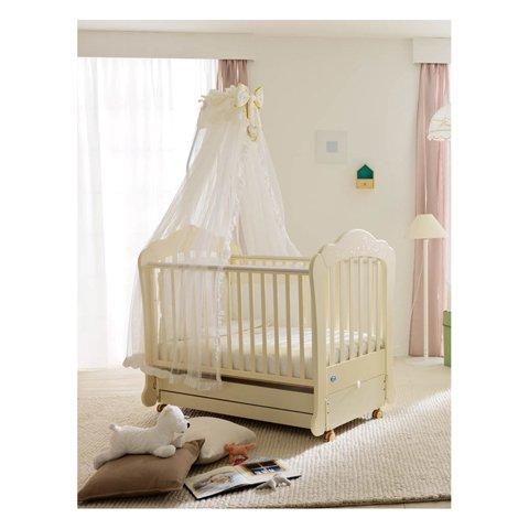 Babybett Kinderbett aus Holz Neus Luxe Micuna Bianco KEINE MATRATZE