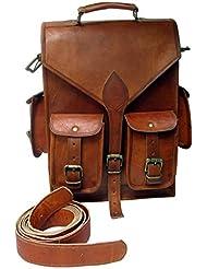 TLC 15 Leather Backpack padding Leather Bag Hiking Bag Rucksack School Bag College