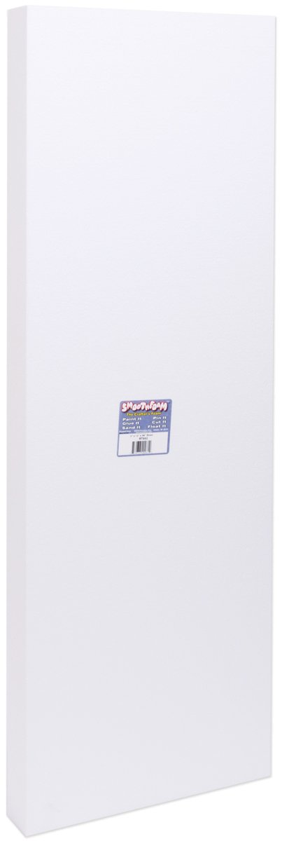 Smoothfoam Sheet Crafts Foam for Modeling, 2 by 12 by 36-Inch, White