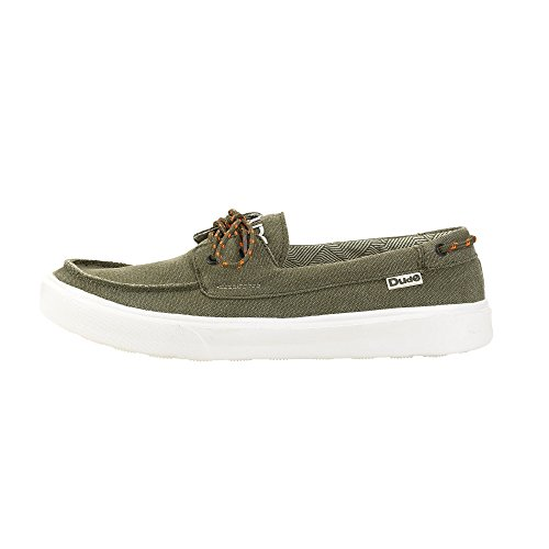 Canvas Musk Shoe Dude Green Deck Men's Shoes Kola wItnxZqOv6