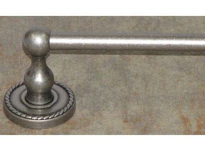 (Top Knobs ED10APE Bath Edwardian Collection 30 Inch Single Towel Bar with Ribbon Backplate, Antique Pewter Finish)