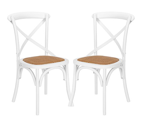 Poly and Bark EM-247-WHI-X2-A Cafton Crossback Chair - Versatile X-back dining chair Woven Rattan Seat Solid Wood - kitchen-dining-room-furniture, kitchen-dining-room, kitchen-dining-room-chairs - 41RJmuBJrwL -