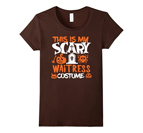 Womens Waitress Scary Halloween Costume Party T-Shirt XL (Scary Waitress Halloween Costume)
