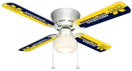 Ceiling Fan Designers 7999-MIC New NCAA MICHIGAN WOLVERINES 42 in. Ceiling Fan