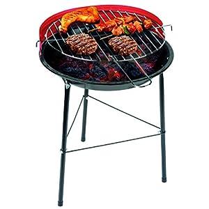 BAKAJI Barbecue a Carbone Carbonella BBQ Grill in Metallo con Paravento Griglia Rotonda Diametro 33 cm 9 spesavip