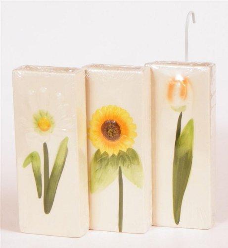 3 cerámica agua - Humidificador para radiadores (con diseño de flores: Amazon.es: Hogar