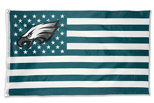 WHGJ Philadelphia Eagles Large NFL 3x5 FT Flag Stars and Stripes Double Sided Sports Banner