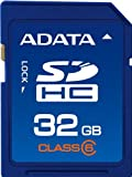 ADATA 32GB Class 6 SDHC Flash Memory Card ASDH32GCL6-R