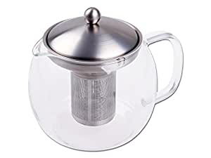 Chg 3403-00 - Tetera con filtro de té (cristal y acero inoxidable, 1,2 litros)