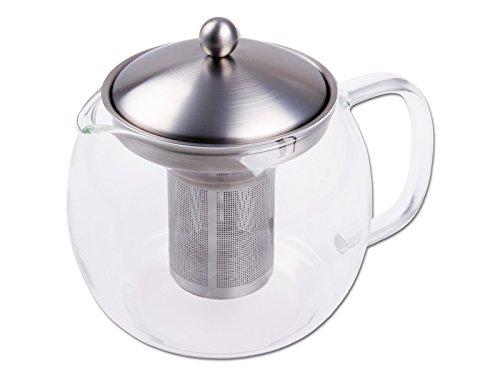 CHG 3403-00 Teekanne mit Filtereinsatz / Kanne aus Glas / Deckel und Filtereinsatz aus rostfreiem Edelstahl / für 1.2 Liter