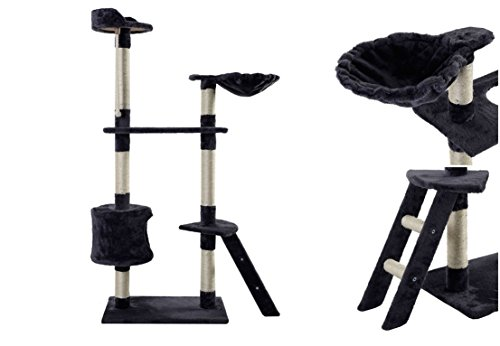 Prime Popular 60'' Cat Tree Activities Tower Scratching House Kitten Furniture Color Type Gray by GVGs Shop