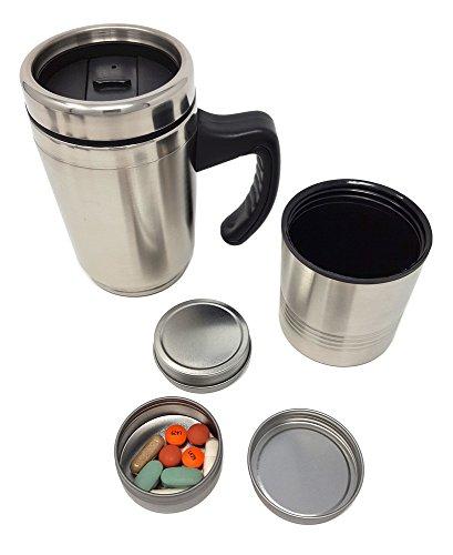 PIll Travel Mug - Stainless Steel Insulated Travel Mug w/ Re