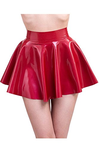 Patterns Skirt Skating (Westward Bound Women's Mimi Skating Latex Rubber Skirt. Pearl Sheen Red UK 06. Cont 34. USA 04 Red)