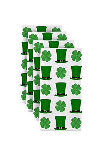 Fabric Textile Products St. Patrick's Day Top Hats & Shamrocks Napkins 18