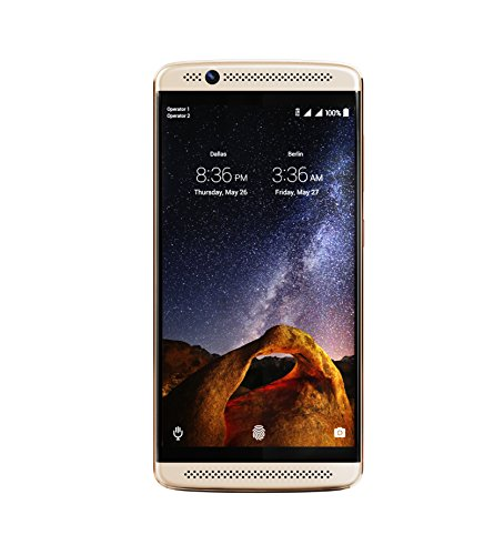 Unlocked ZTE Axon 7 Mini B2017G Smartphone, Ion Gold, Snapdragon 617, Dual SIM Standby, 16MP Rear Camera, 5.2