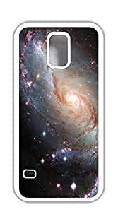 Customized Dual-Protective case for samsung galaxy s5 5d - Star Universe purple nebula