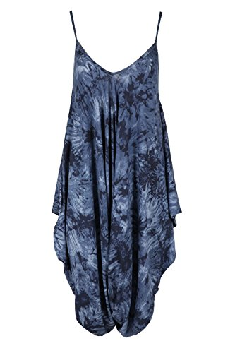 Womens Ladies Cami Strappy Sleeveless Harem Baggy Lagenlook Jumpsuit Playsuit (Oops Outlet)