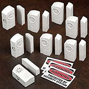 Set of Eight Wireless Alarm and Door Chimes