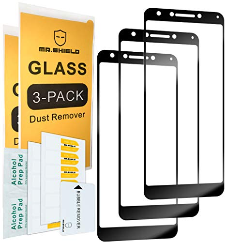 [3-Pack]-Mr.Shield for Alcatel 7 [Japan Tempered Glass] [9H Hardness] [Full Cover] Screen Protector with Lifetime Replacement