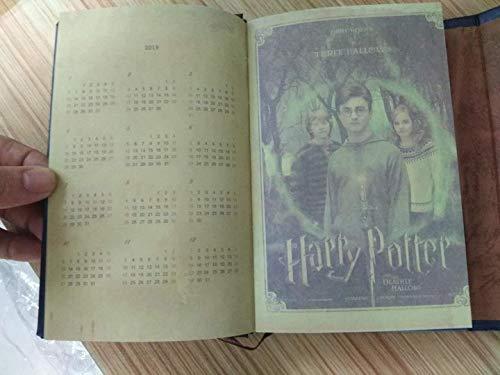 Harry Potter - Cuaderno de notas con calendario, 2018-2019-2020, diseño vintage, agenda de libros, tapa dura, cuaderno de notas