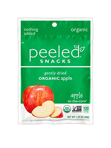 Peeled Snacks Organic Dried Fruit, Apple-To-The-Core, 1.23 Ounce (Pack of (Dried Apple)