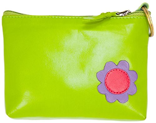 Purse Embellishment (Toucan Celtic Leather Coin Pocket Wallet with Flower Embellishment - Four Colours)