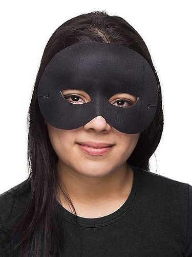 [Black Cocktail Half Mask] (Halloween Costume Mime Face)