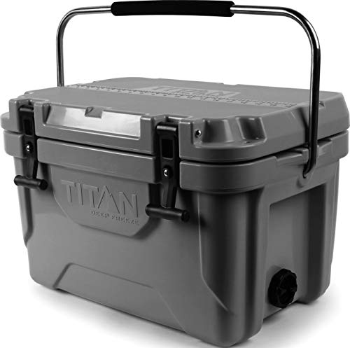 Arctic Zone Titan Deep Freeze 20Q Premium Ice Chest Roto Cooler with Microban Protection, Gray