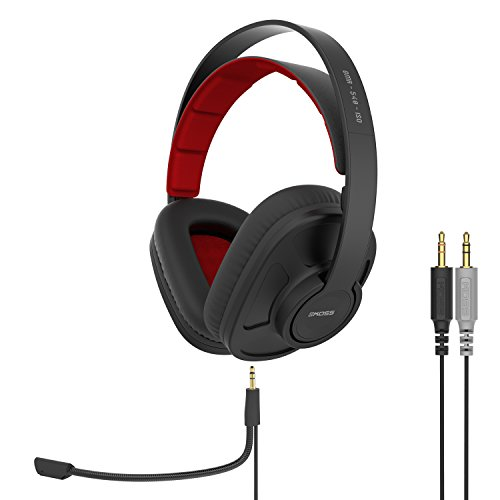 Koss GMR-540-ISO Closed-Back Gaming Headphones | Detachable Cord Design | Two Cords with Microphones Included | Light Weight