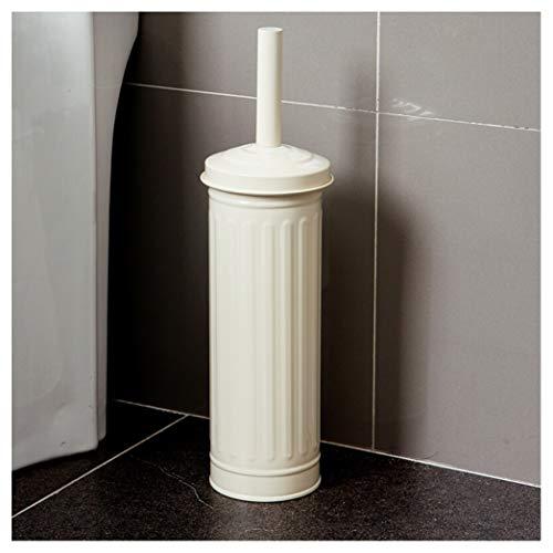 (SNOOKER Toilet Brush Holder White Matal Iron Free Standing for Bathroom Toilet, Toilet Scrubber Set Closed Hideaway Design Loo Brush - Luxury Bathroom Accessories Toilet Brushes & Holders -02236)