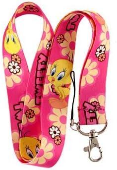 Tweety Bird Pink Keychain Lanyard
