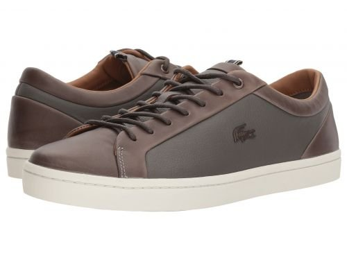 Lacoste(ラコステ) メンズ 男性用 シューズ 靴 スニーカー 運動靴 Straightset 118 1 - Grey/Off-White [並行輸入品] B07BLYK4TQ