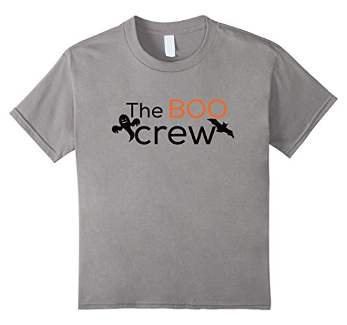 Kids Boo Crew Haunted House Staff Halloween T-Shirt Ghost Bat 12 (Party Rock Crew Halloween Costume)