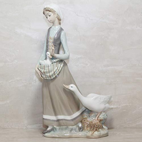 Lladro Girl with Goose Glaze Finish Figurine ()