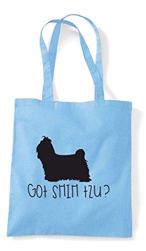 Got Dog Shopper Lover Pets Bag Sky Animal Shihtzu Tote Funny Blue Person TrnxpqTw51