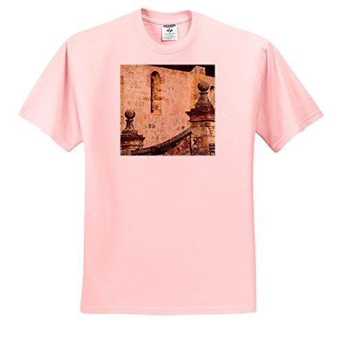 Danita Delimont - Architecture - Italy, Tuscany, San Giovanni Dasso, Stairway In The Small Tuscan Town. - T-Shirts - Youth Light-Pink-T-Shirt Small(6-8) (Tuscan Six Light)