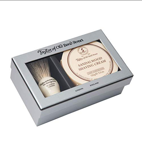 Taylor of Old Bond Street Pure Badger & Sandalwood Shave Cream Gift Box