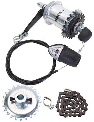 Sun 5-Speed Coaster Brake Hub Conversion Kit for Adult 3-Wheeler ()