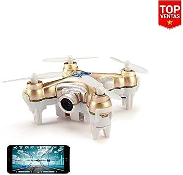 Drone FPV Cheerson CX-10W | FPV a Smartphone | Ideal Selfie | Iniciación e Interiores | LEDs: Amazon.es: Juguetes y juegos